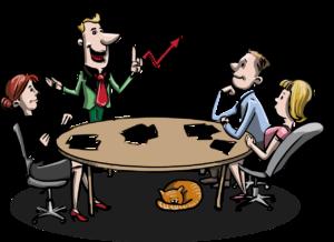 אילוסטרציה של צוות הבונה תוכנית עסקית